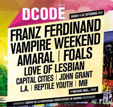 Franz Ferdinand y Vampire Weekend, entre las primeras confirmaciones del Dcode Festival 2013