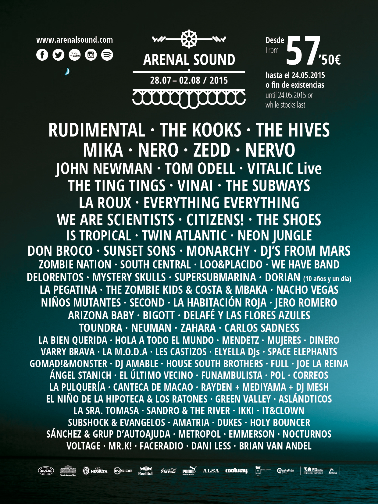 arenal sound 2015 the hives