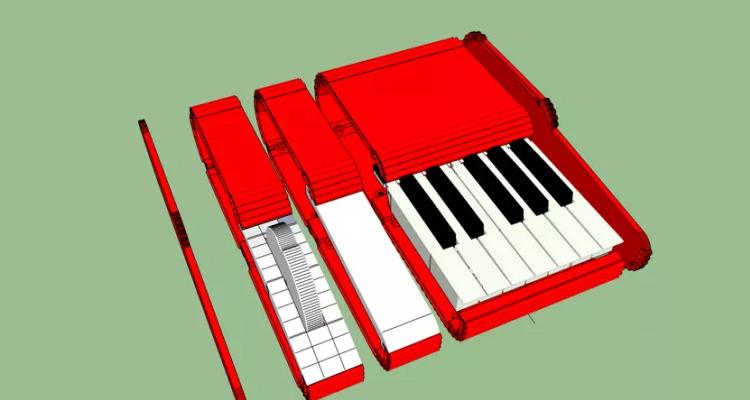 teclado modular 3d