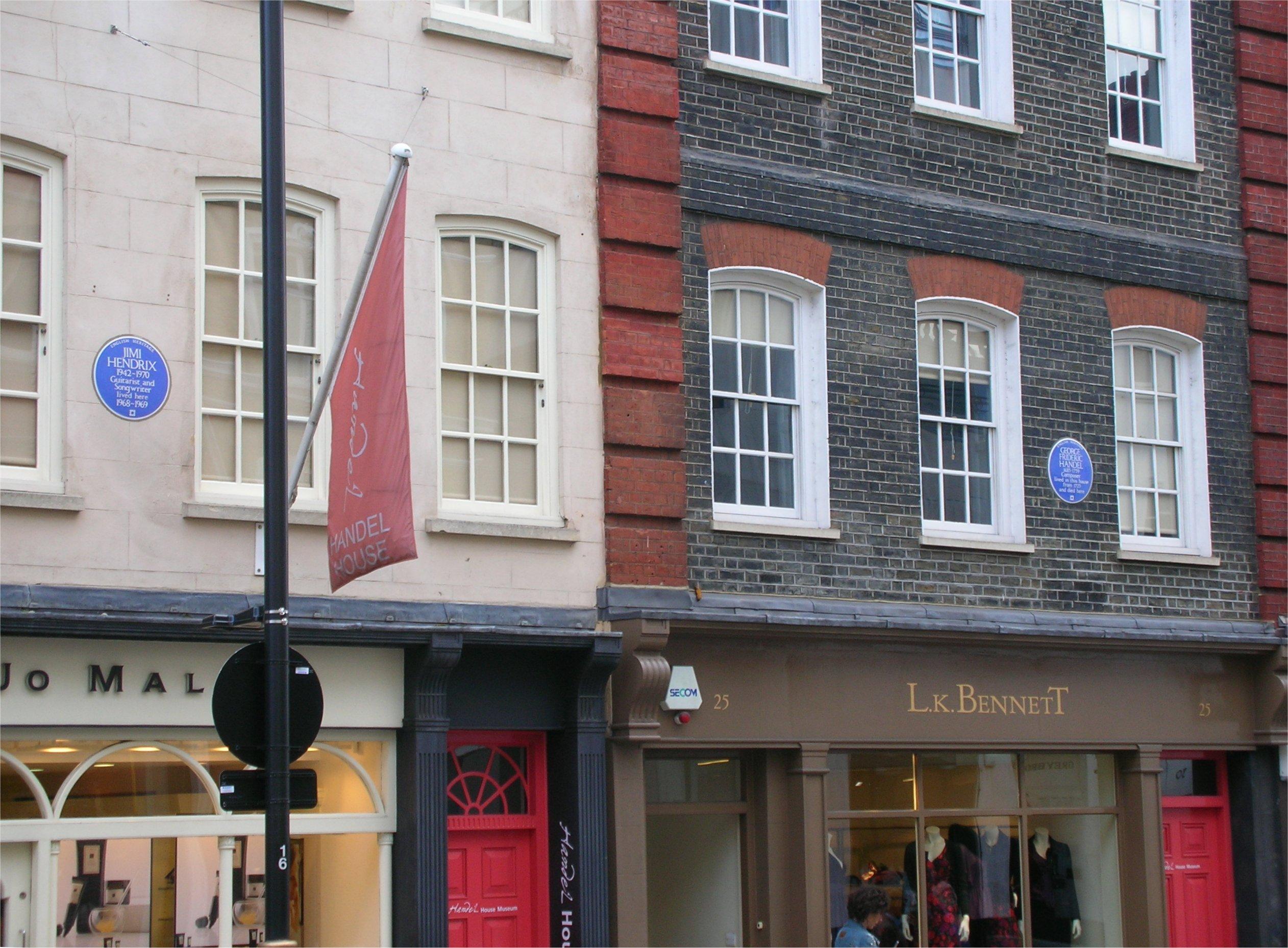 Hendrix_and_Handel_houses_Brook_Street