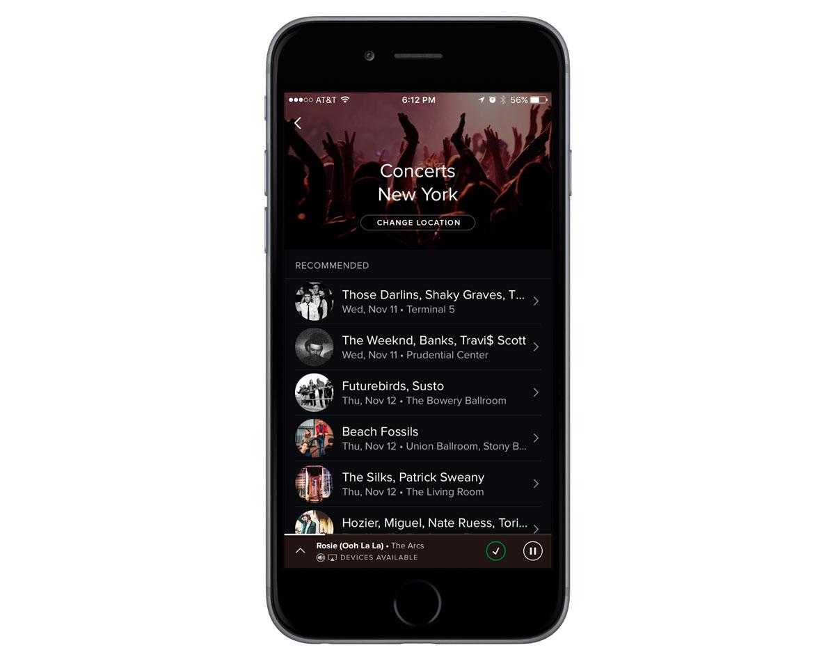 Spotify-recomendaciones-de-conciertos-iOS