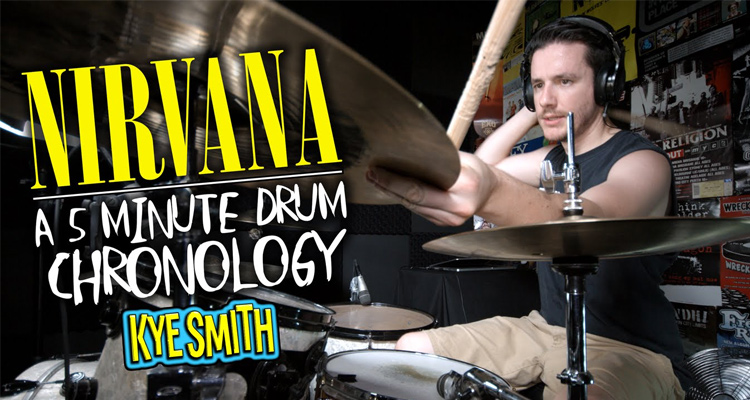 Un batería repasa toda la discografía de Nirvana en 5 minutos