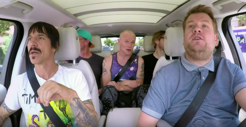red hot chili peppers james corden