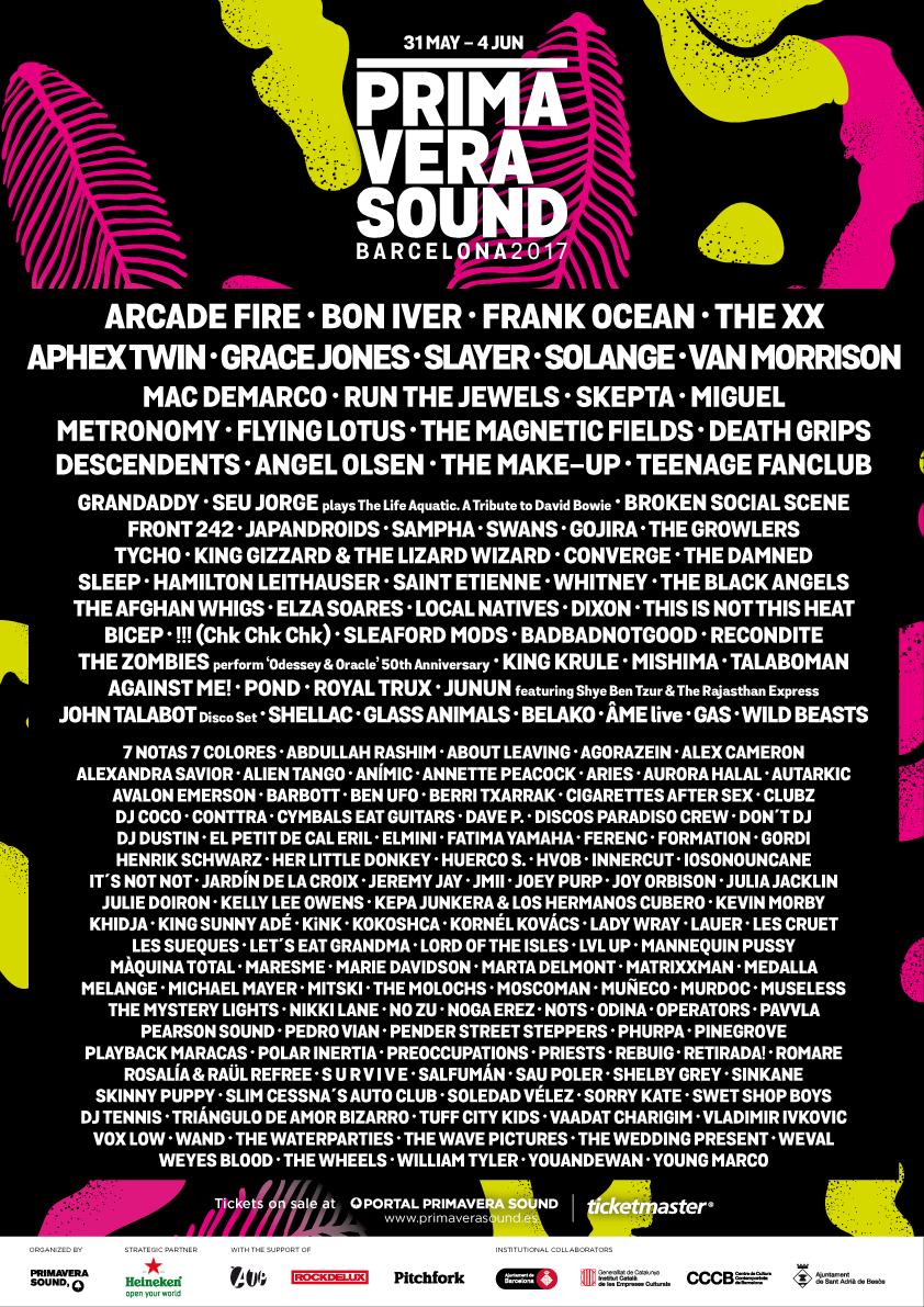 cartel primavera sound 2017