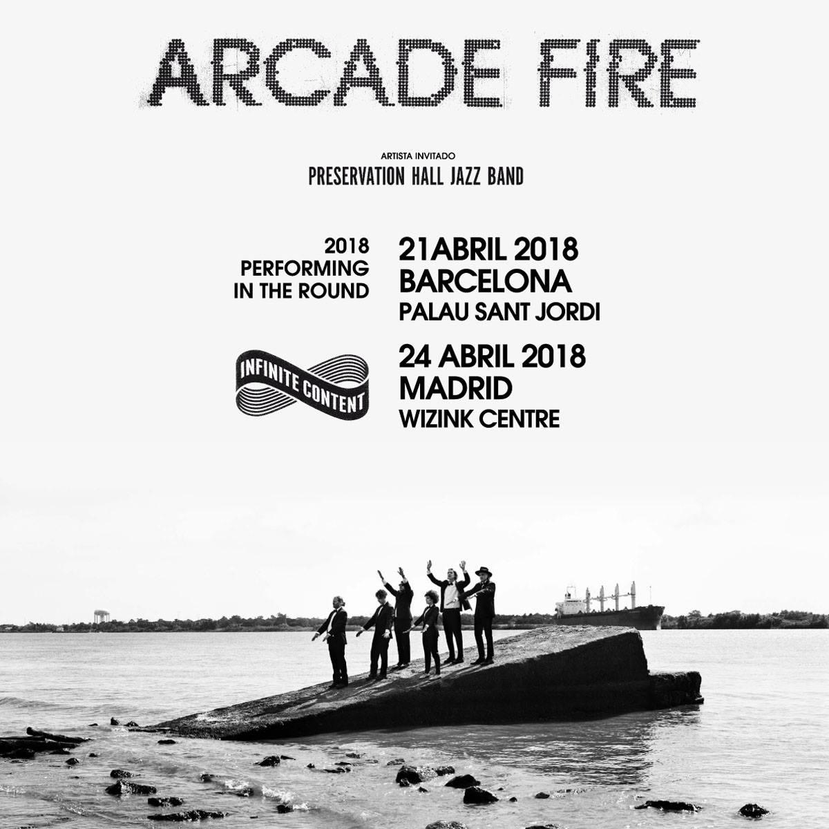 arcade fire barcelona madrid 2018