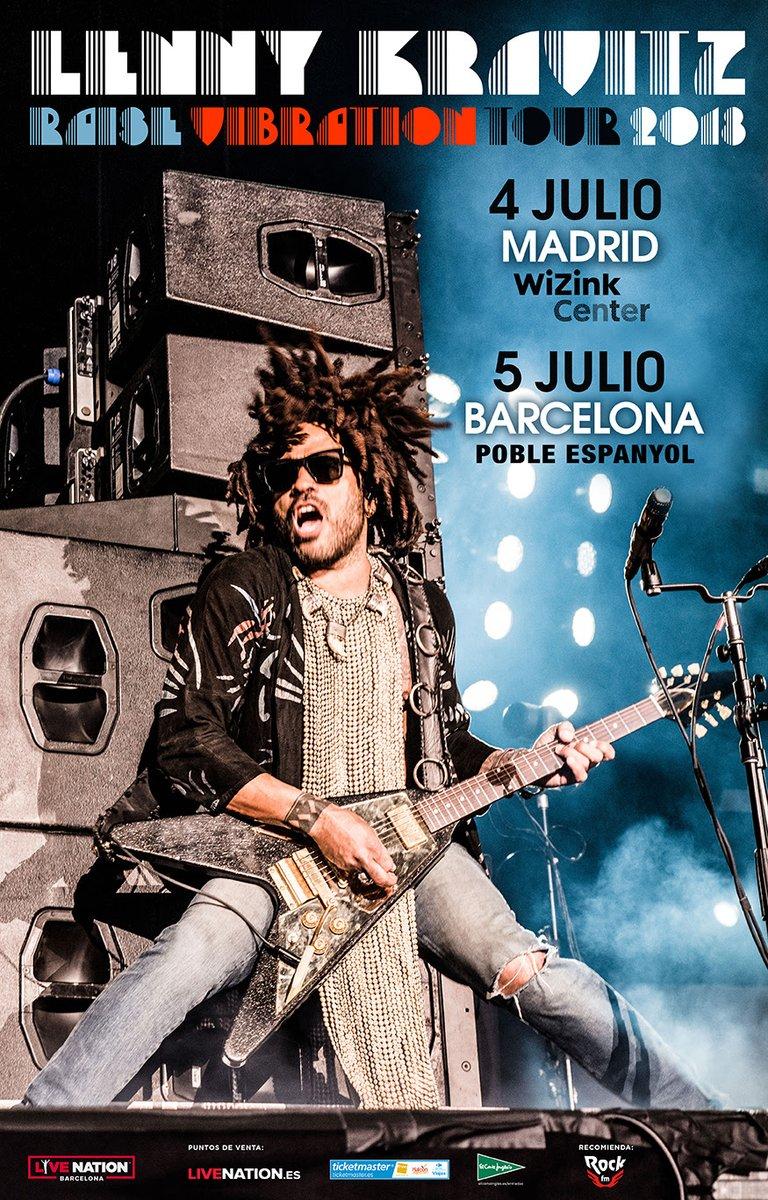 lenny kravitz concierto barcelona madrid 2018