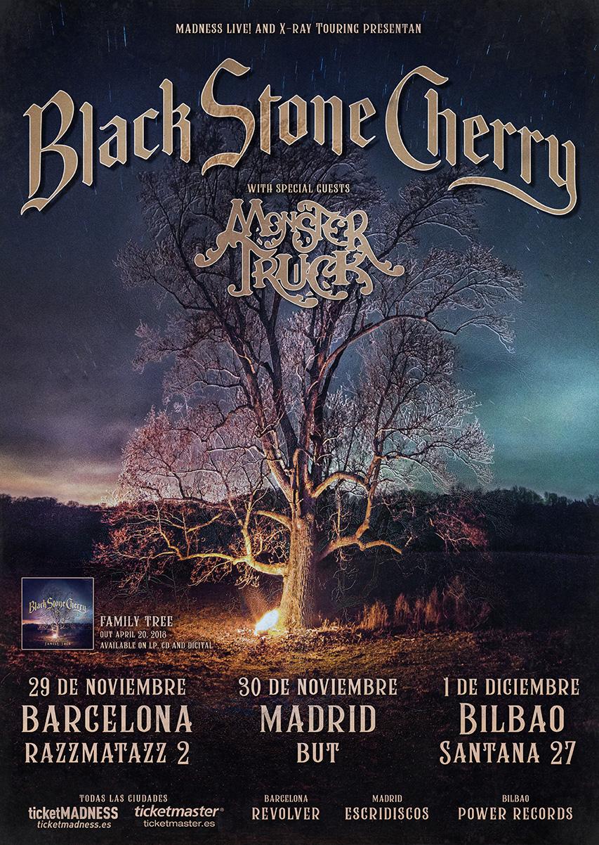concierto black stone cherry barcelona madrid bilbao