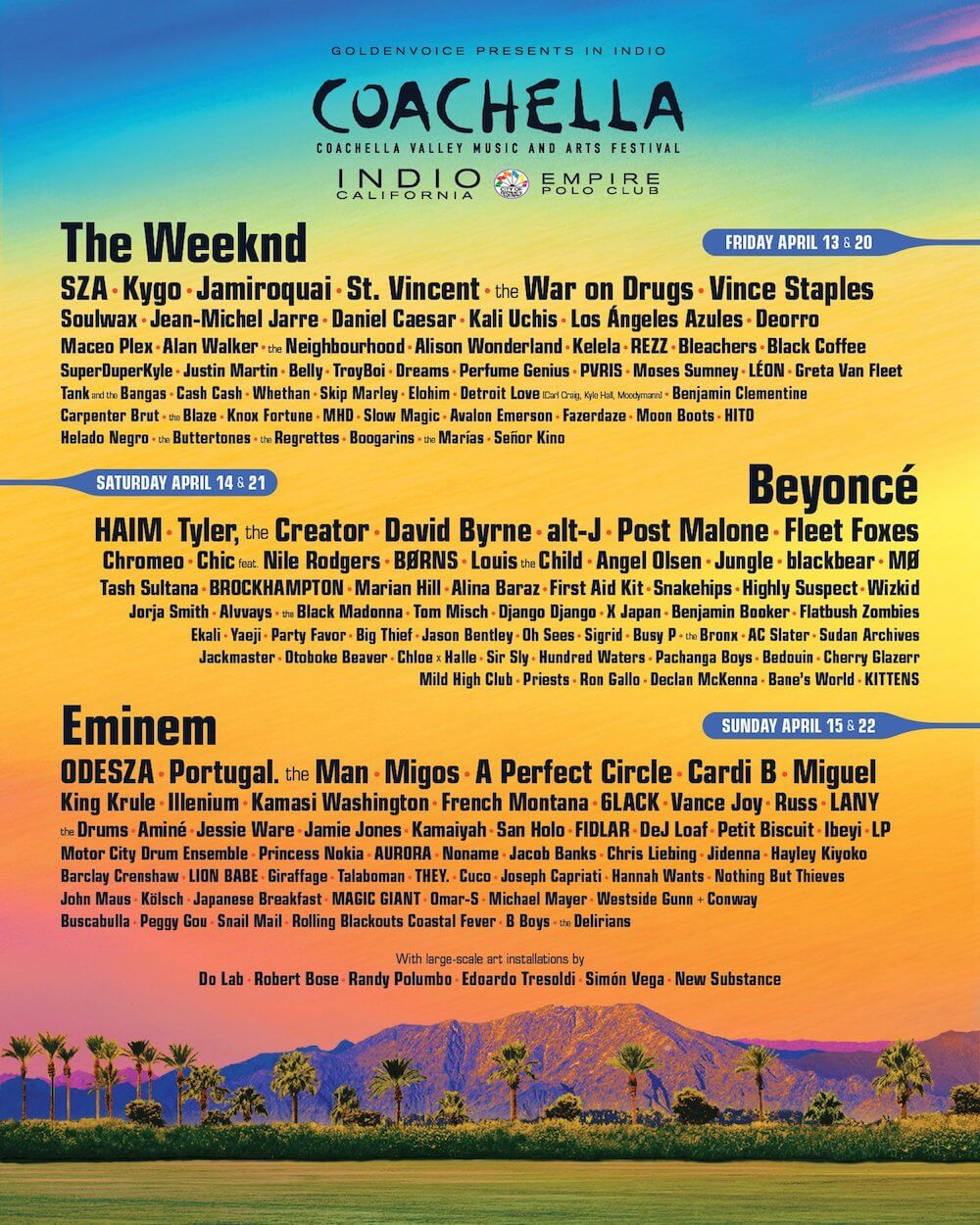 streaming coachella 2018 horarios