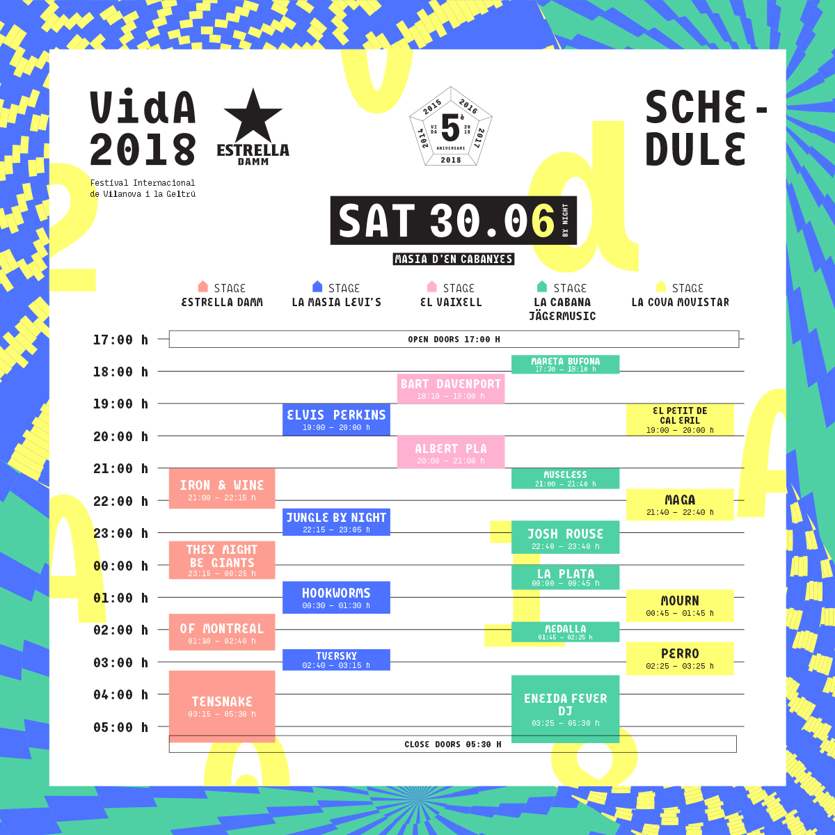 horarios vida festival 2018 sabado