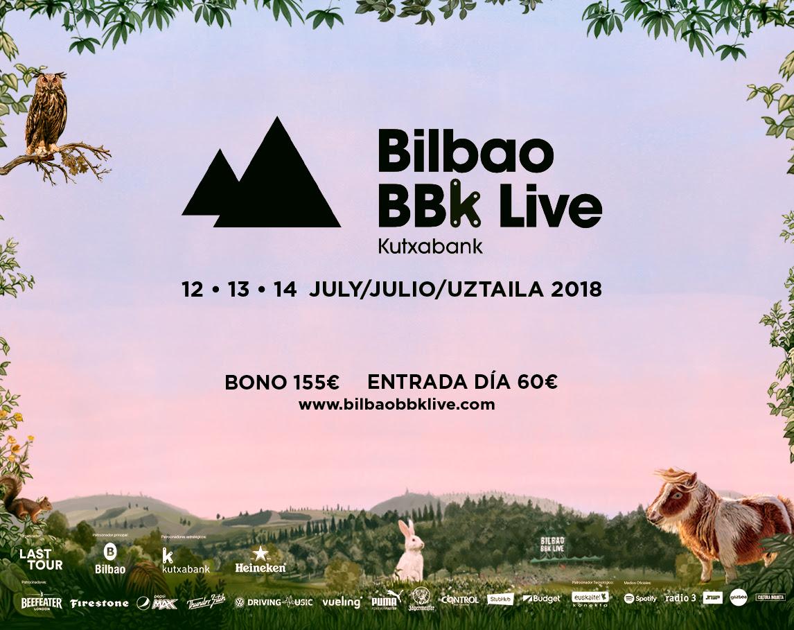 horarios bilbao bbk live 2018