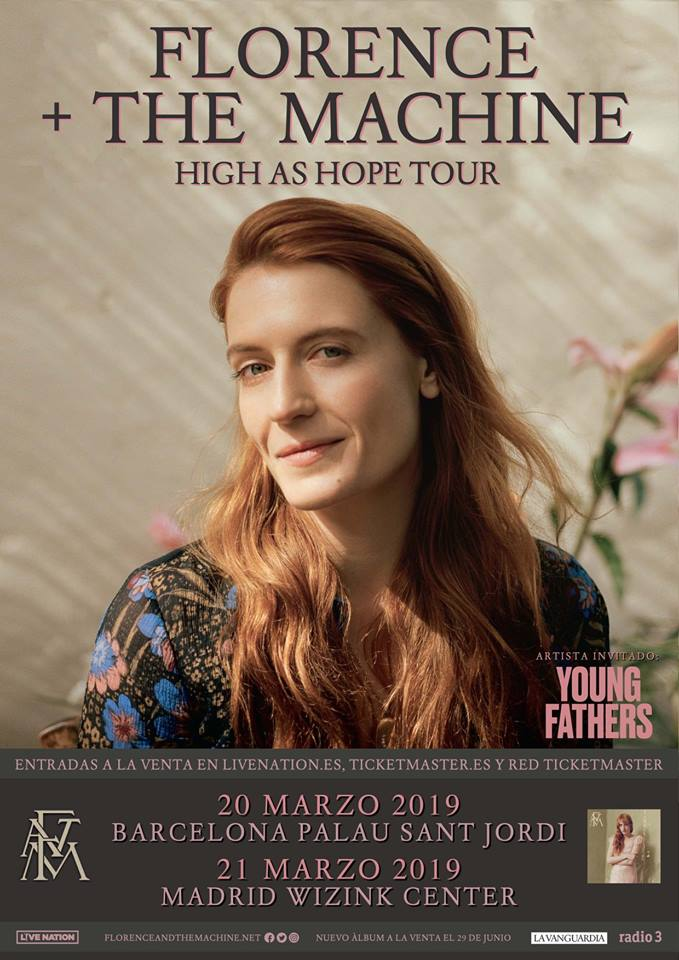 entradas florence and the machine barcelona madrid 2019