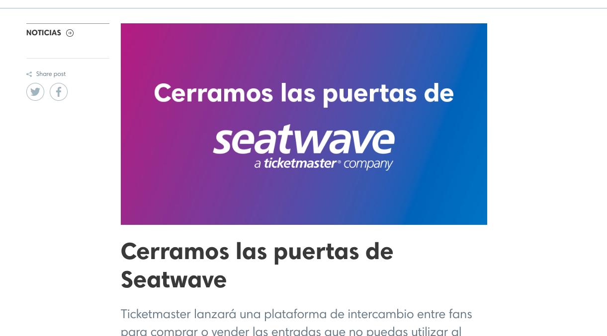 ticketmaster cierra seatwave