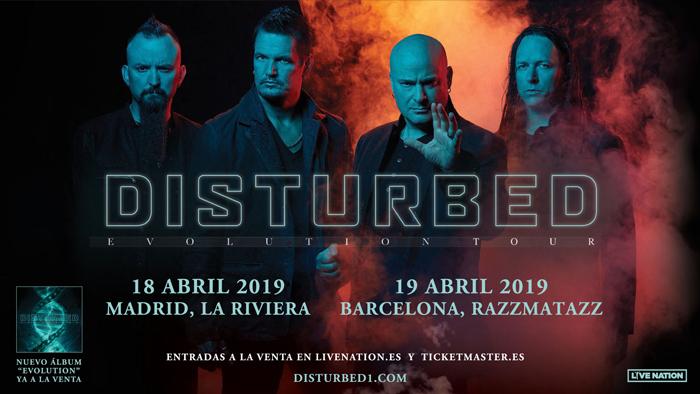 concierto disturbed barcelona madrid 2019