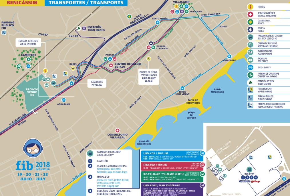 mapa transporte fib