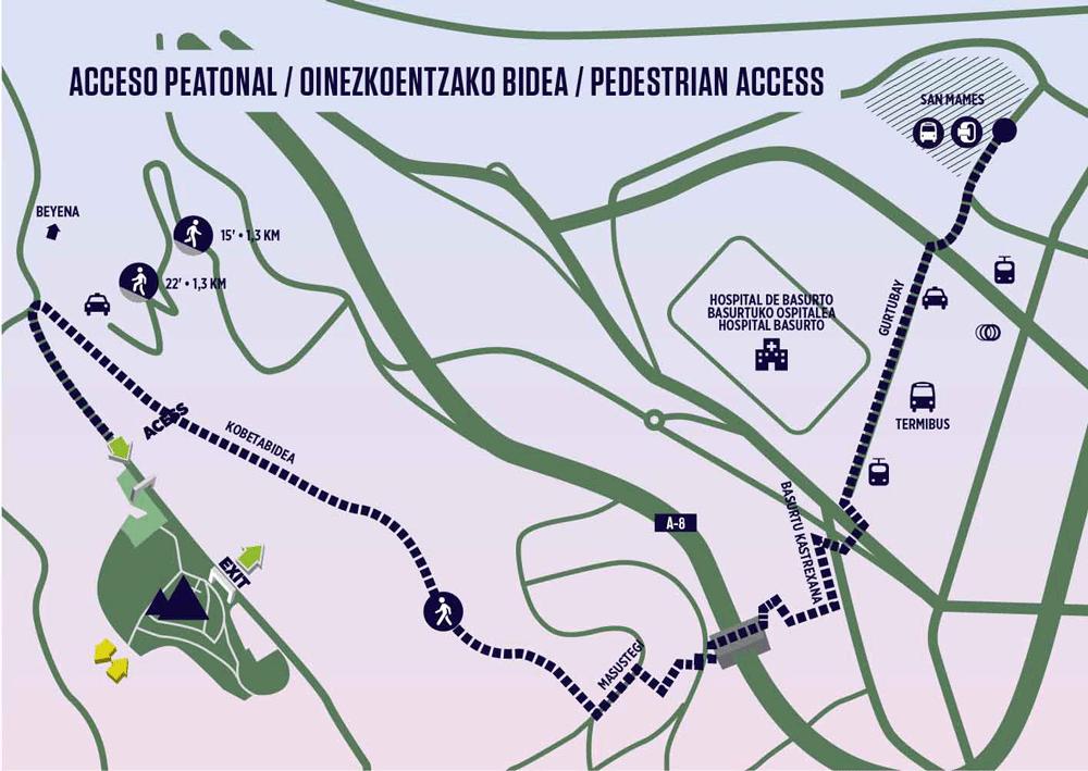 mapa peatonal bilbao bbk live
