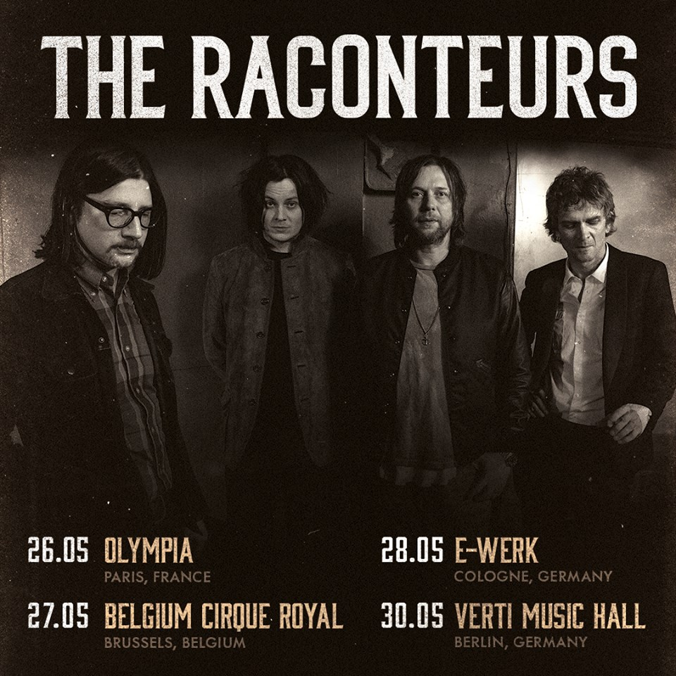 gira europea de The Raconteurs en 2019