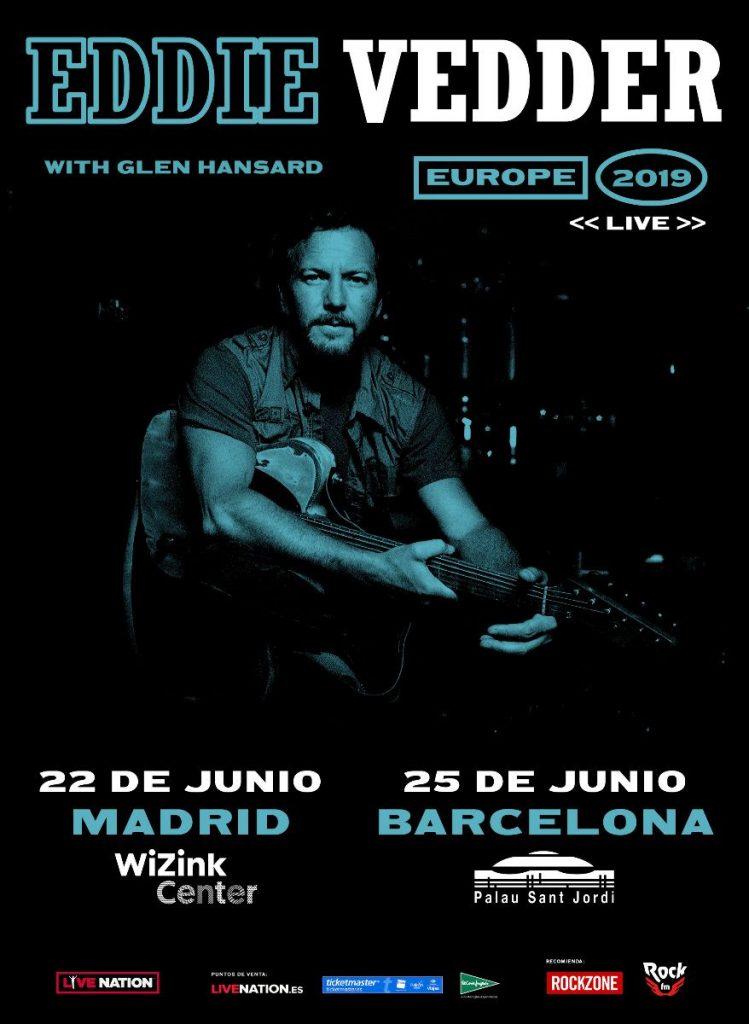Precios de entradas de Eddie Vedder en Madrid y Barcelona