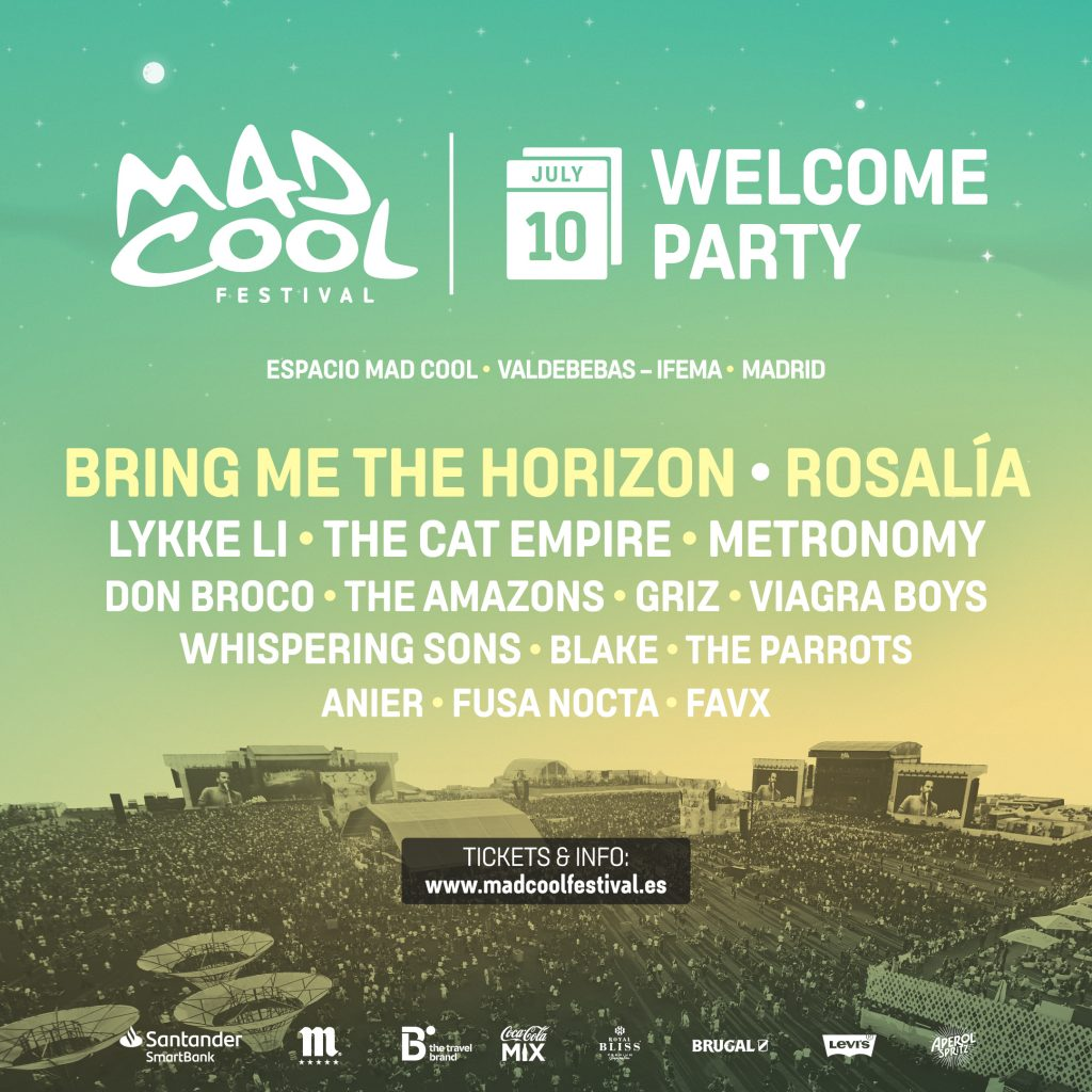 mad cool 2019 welcome party