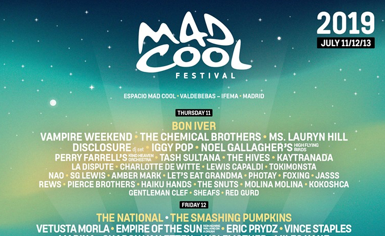 Horarios Mad Cool 2019