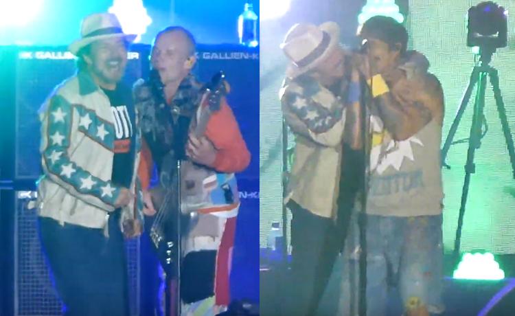 Resultado de imagem para Confira Red Hot Chili Peppers e Eddie Vedder juntos tocando clássico do The Cars