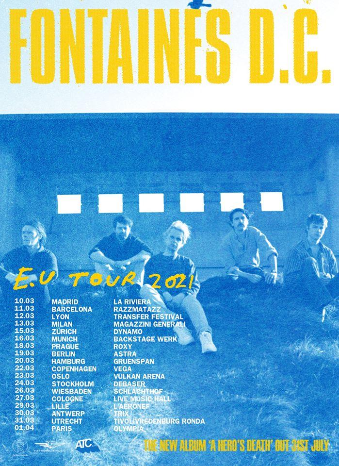 concierto fontaines dc madrid barcelona marzo 2021