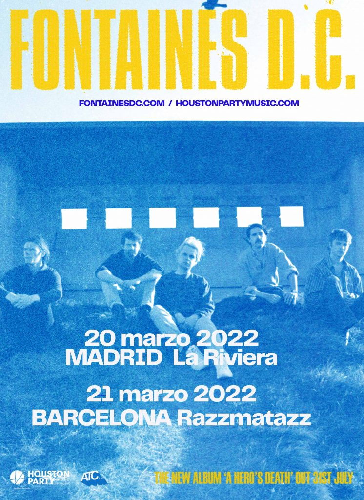 concierto fontaines dc madrid barcelona 2022